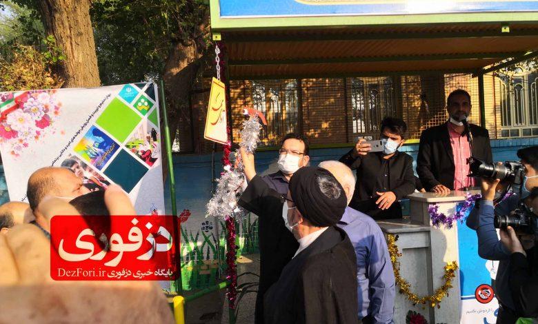 حجت الاسلام محمد علی قاضی در مراسم نواختن سال تحصیلی 99 1400 در دزفول