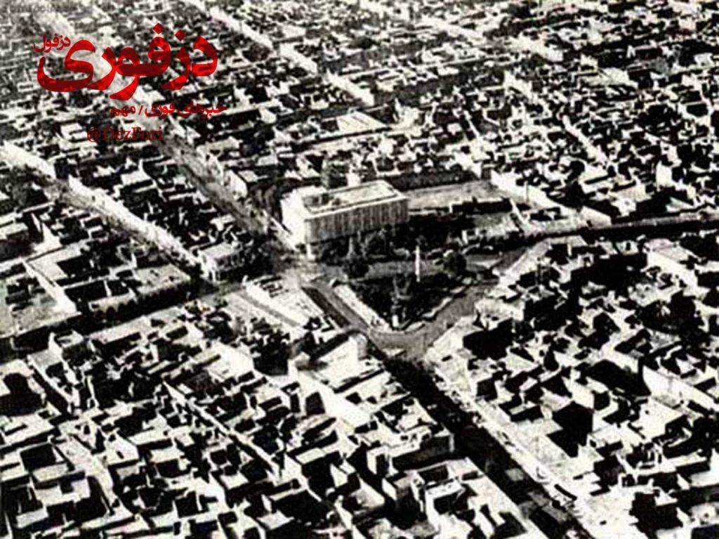 عکس قدیمی از میدان آزادی (مثلث) دزفول
