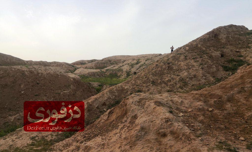 نمایی از روی تپه باستانی چغامیش دزفول