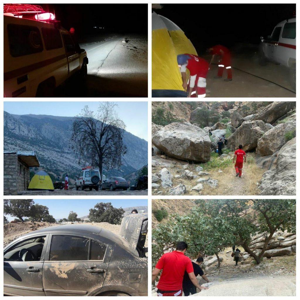 نجات جان گردشگران گرفتار شده در منطقه آبشار شوی دزفول