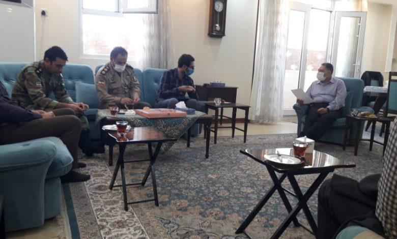 سید احمد آوایی در دیدار با ریاست بیمارستان ۵۸۰ مقاومت ارتش