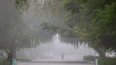 تصویر از غبار یا مه صبحگاهی خوزستان را فرا میگیرد