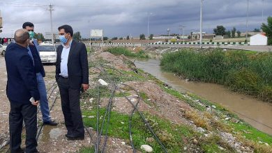 تصویر از بازدید امیر احسانیان معاونت عمرانی فرمانداری دزفول از محله سر سرباز شهر سیاه منصور