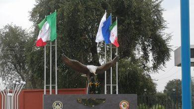 تصویر از عقاب ورودی پایگاه چهارم شکاری دزفول برگشت اما کوچکتر
