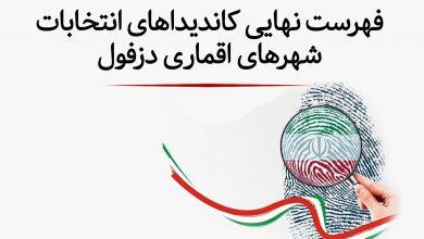 تصویر از فهرست کاندیداهای ششمین انتخابات شورای شهرهای تابعه دزفول (شهرهای اقماری)
