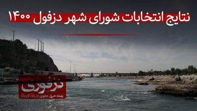 تصویر از نتایج رسمی ششمین دوره انتخابات شورای شهر دزفول (۱۴۰۰) + تعداد آراء