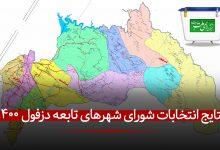 تصویر از نتایج رسمی انتخابات شورای شهرهای تابعه دزفول (شهرهای اقماری) + تعداد آراء