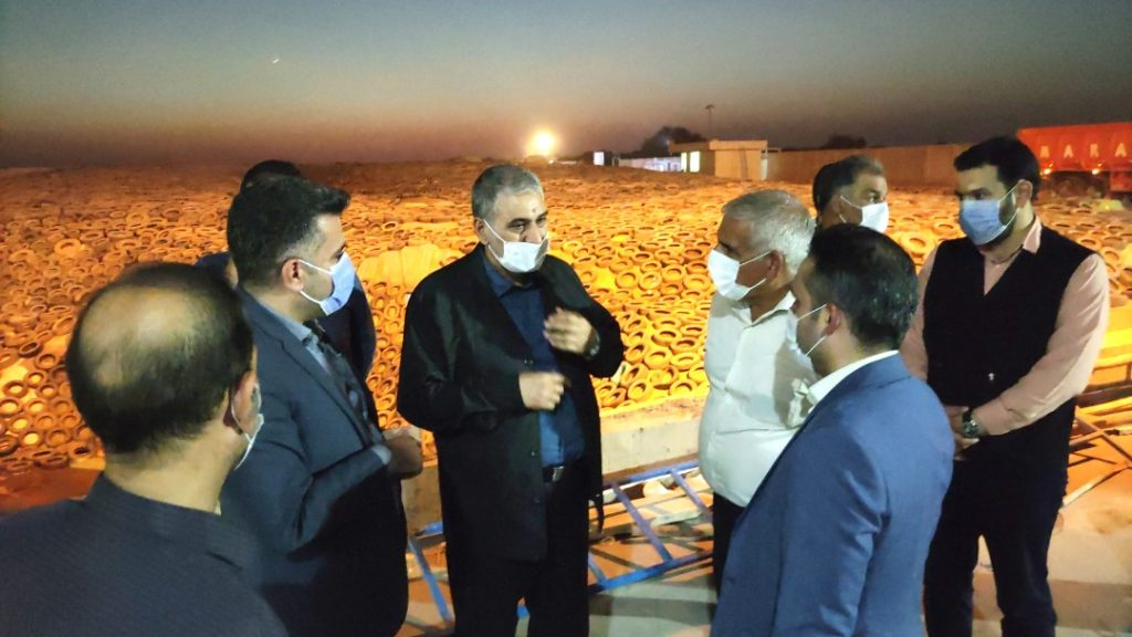 بازدید فرمانده سپاه ولیعصر (عج) خوزستان از مجتمع تولیدی و صادراتی هلدینگ رحمت تجارت شهرستان دزفول